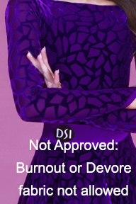 PT Not Approved - 1 - Burnout or Devore fabric not allowed.jpg